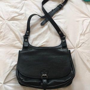 Black cross body like new leather bag